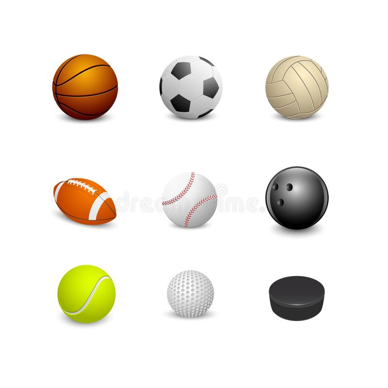 Set of sport balls stock illustration
