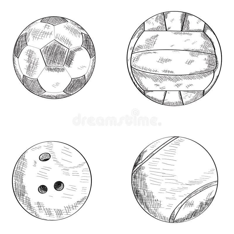 Set sport piłki ilustracji