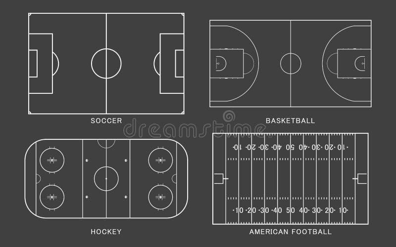 Set sporta pole royalty ilustracja