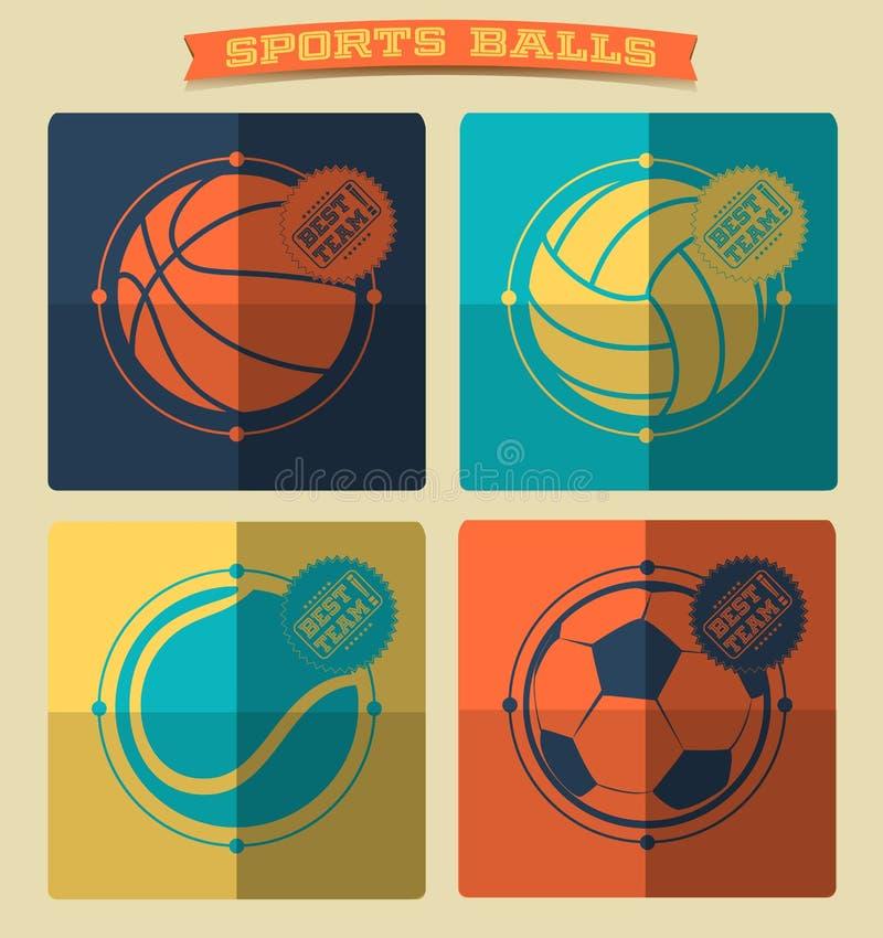 Set of sports balls. vector illustration
