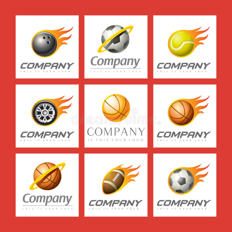 Download Set of sports logos stock vector. Image of design, ball - 13941756