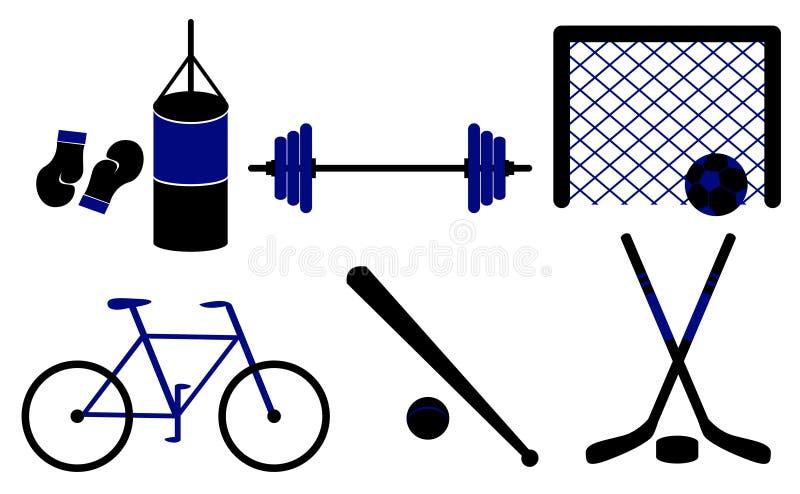 Set sportslig vektor för utrustningillustration