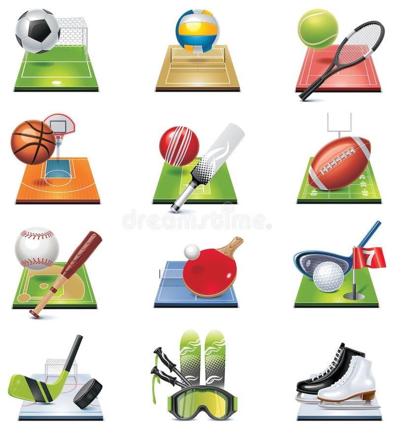 set sportvektor för symbol royaltyfri illustrationer