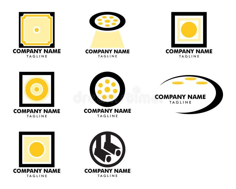 Set of Spotlight icon vector logo illustration royalty free illustration