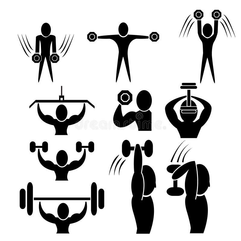 Set sprawności fizycznej ikona ilustracja wektor