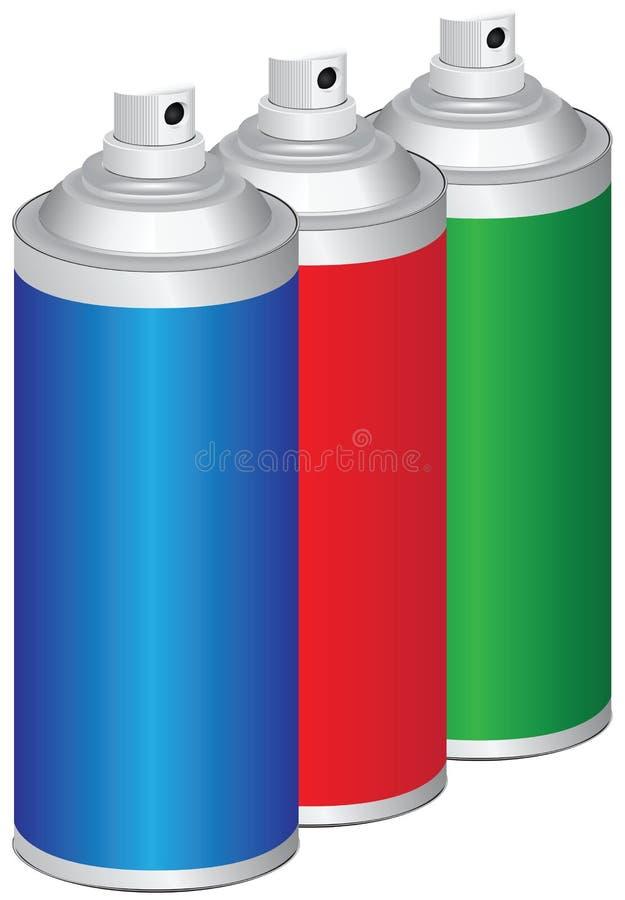 Set Of Sprays Stock Photos