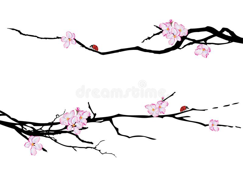 Set of spring dividers stock illustration