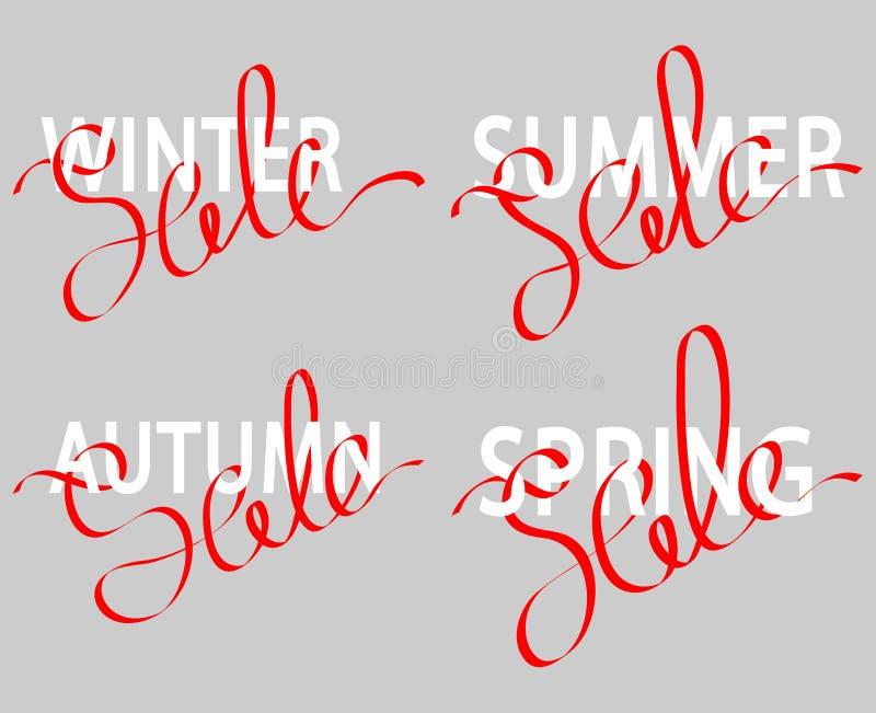Set sprzedaż literowanie royalty ilustracja