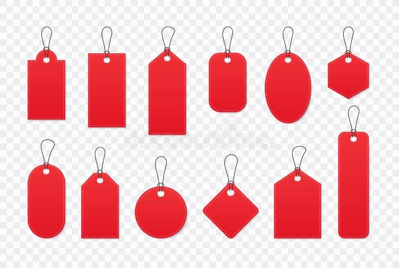 Set sprzeda?y etykietki i etykietki, szablonu zakupy etykietki Puste miejsce, rabat i metki na papierze, Specjalna oferta Rocznik ilustracja wektor