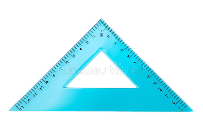 Set Square Triangle Isolated on White Background. Top view royalty free stock photography