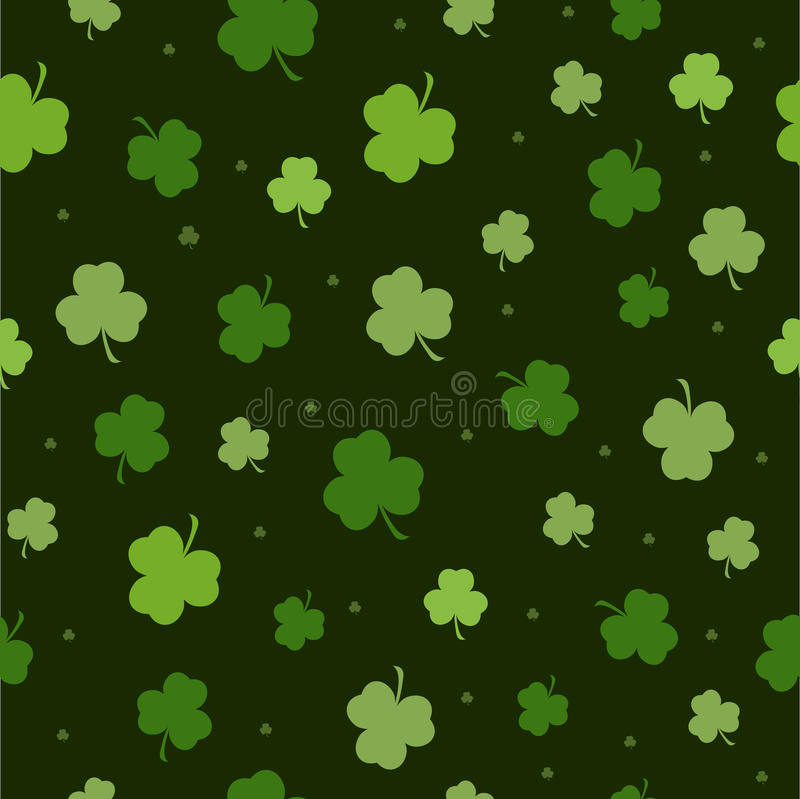 Set of St. Patrick's Day Seamless Patterns Perfect for wallpapers, pattern fills, web backgrounds, greeting cards vector illustration
