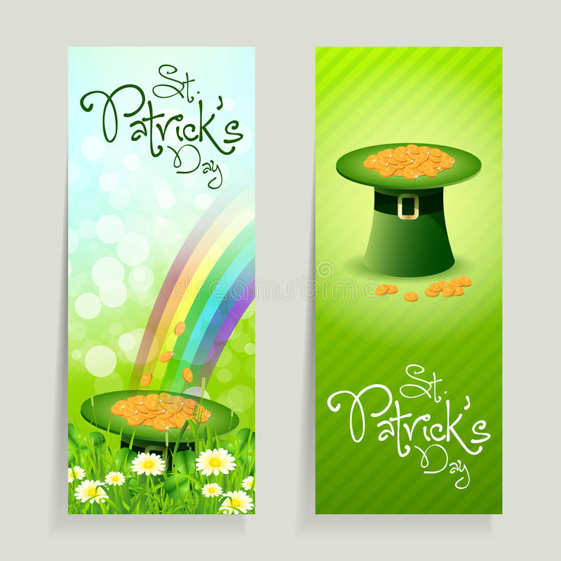 Download Set Of St. Patricks Day Cards Stock Vector - Illustration: 29213822