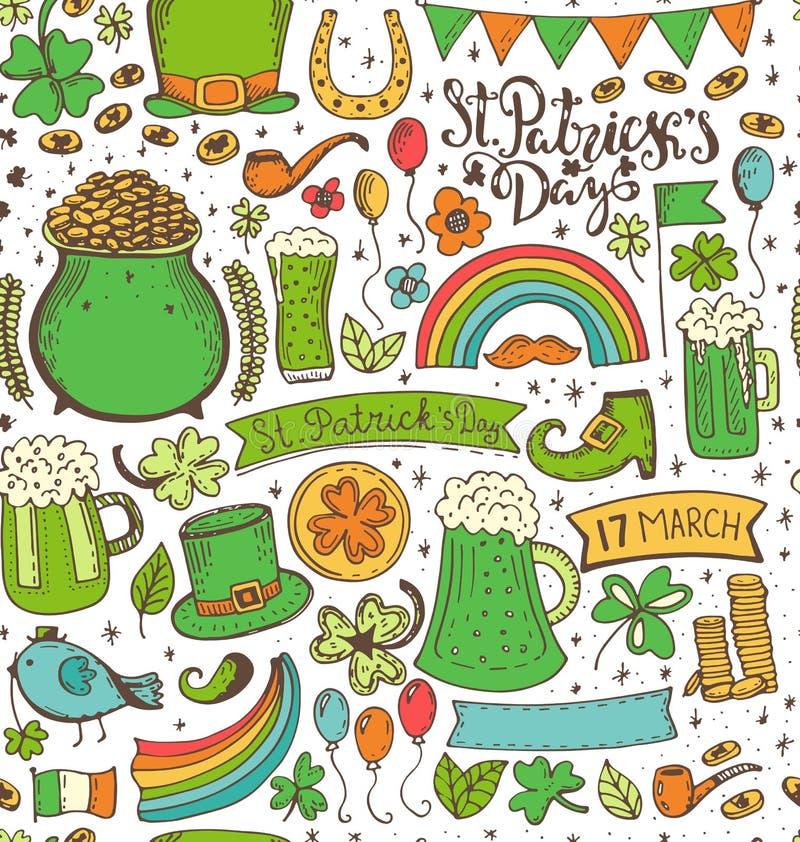 Set St Patricks dzień ilustracji