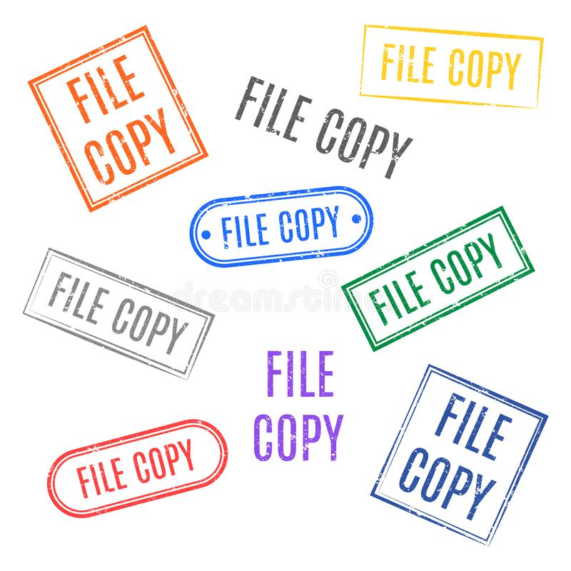 Set of stamps file copy, vector illustration vector illustration