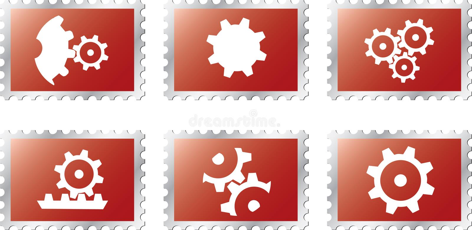 Download Set stamps1 - 18. Gears stock vector. Image of gearshift - 6340203