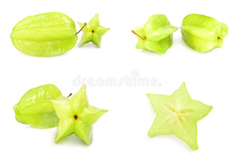 Download Set Starfruit Zakończenie Na Bielu Obraz Stock - Obraz złożonej z dietetyczka, surowy: 106904397