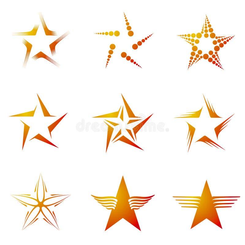Set of Stars stock illustration