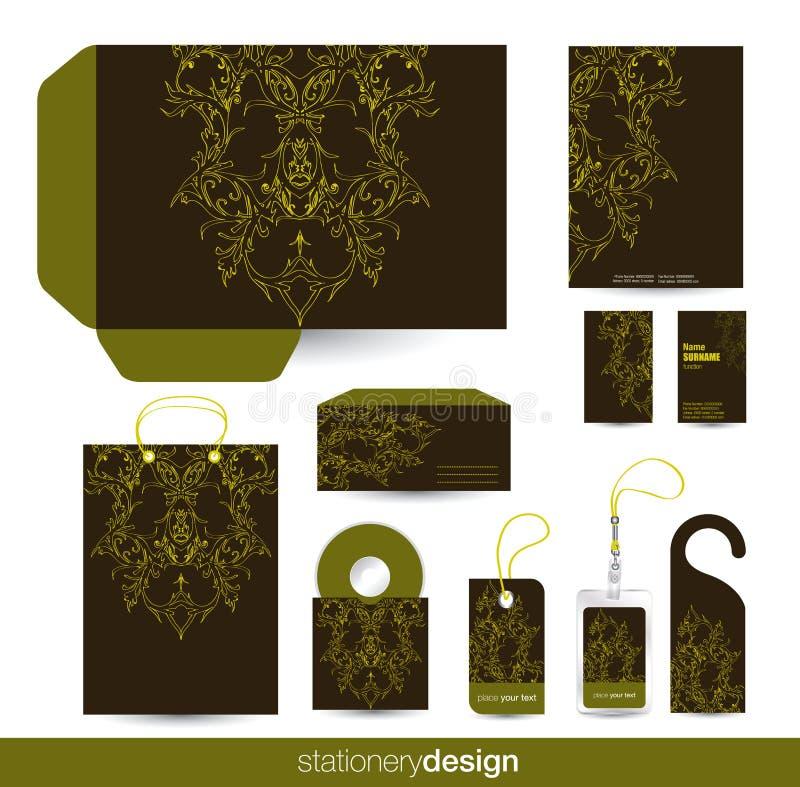 set stationärt för design stock illustrationer