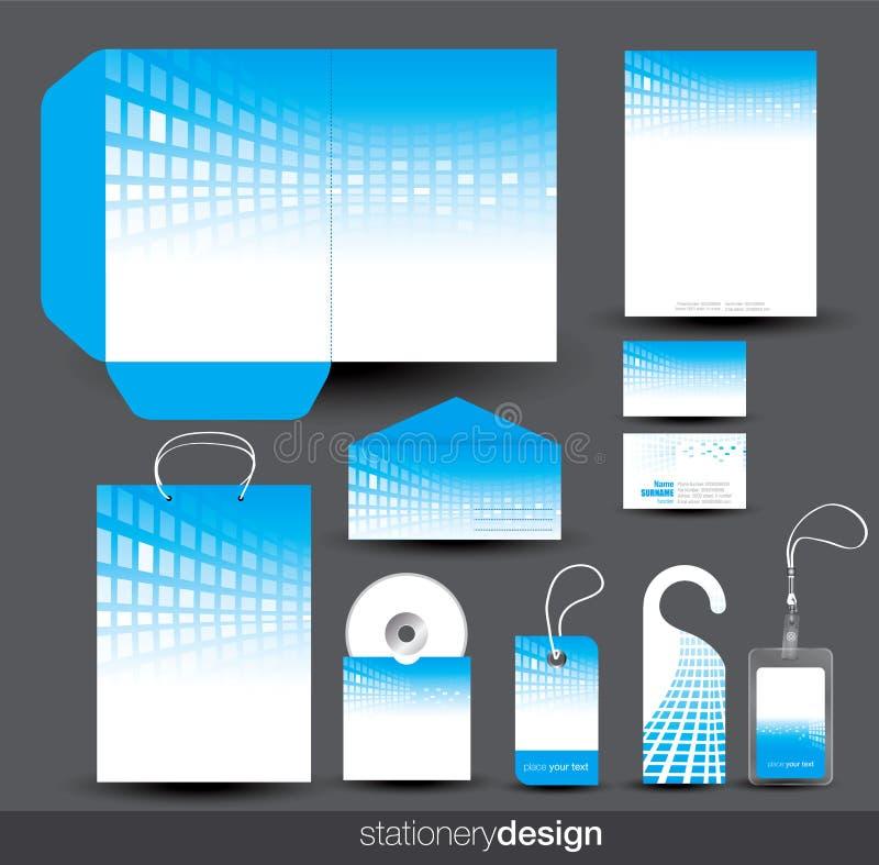 set stationaery för blue royaltyfri illustrationer