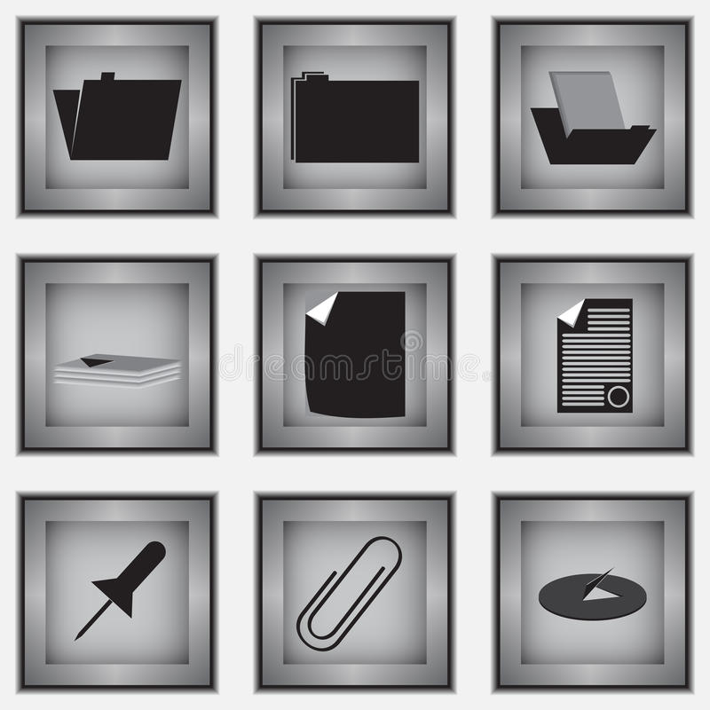 Set of 9 stationery icons