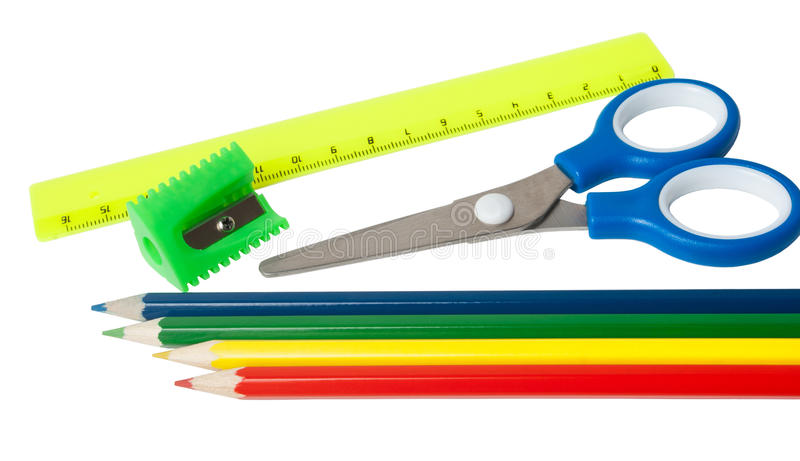 Download Set of stationery stock image. Image of close, angle - 30888147