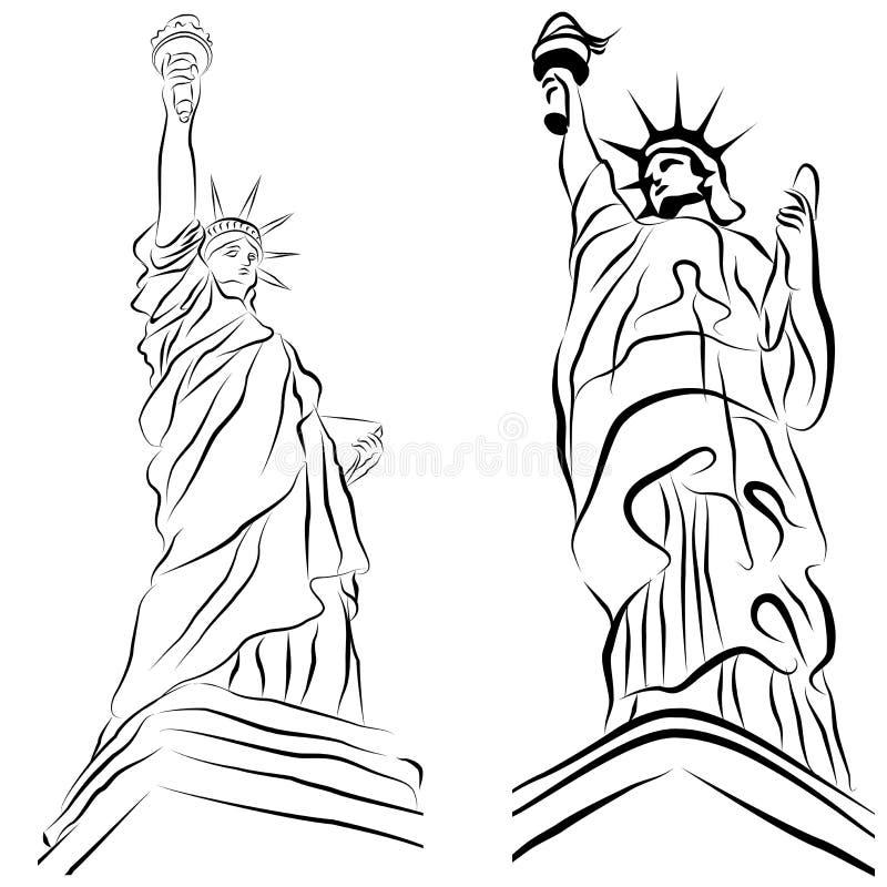 set staty för frihet royaltyfri illustrationer
