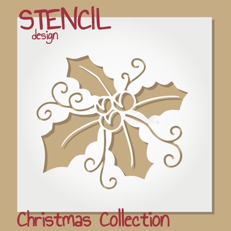 Set of Stencil design templates. Christmas collection. Vector illustration vector illustration