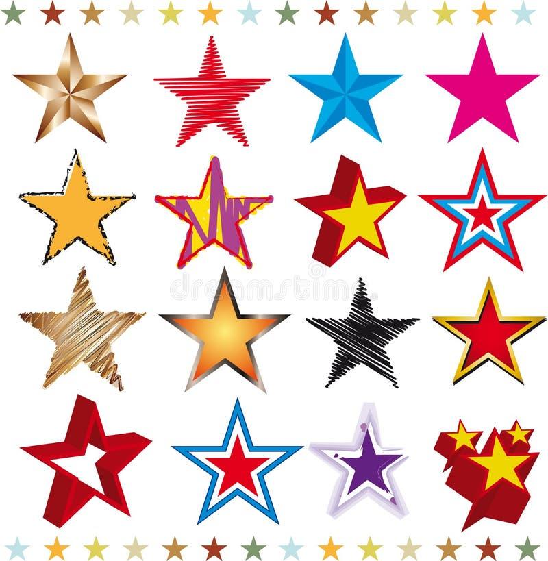Set Sterne stock abbildung