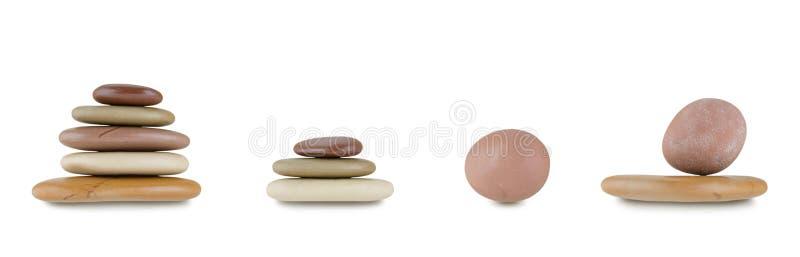 Set sterta zdroju gorący multicolor moczy kamienie odizolowywających na białym tle fotografia stock