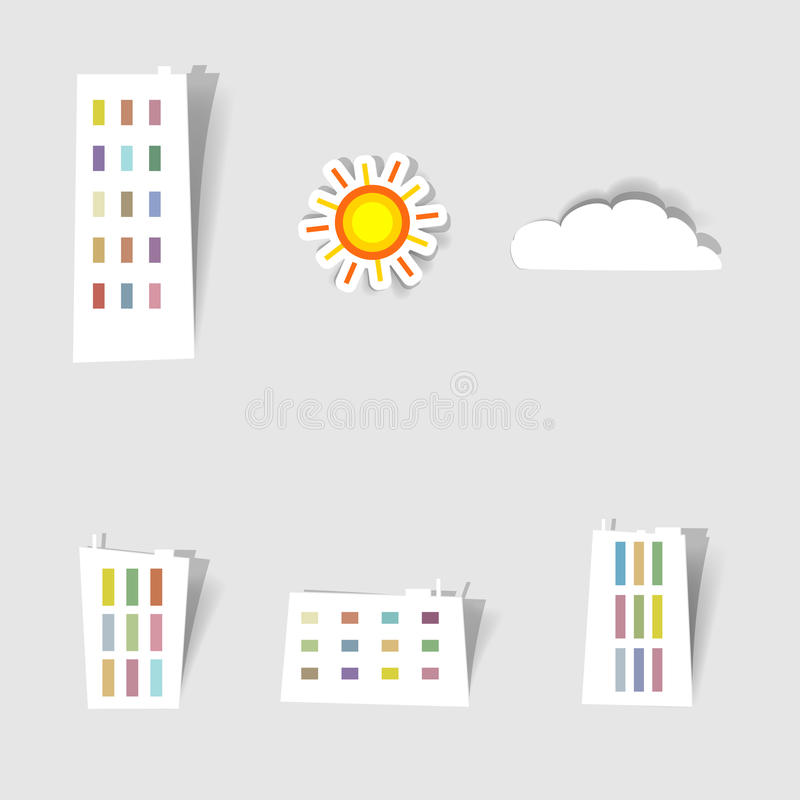 Set of stickers royalty free illustration