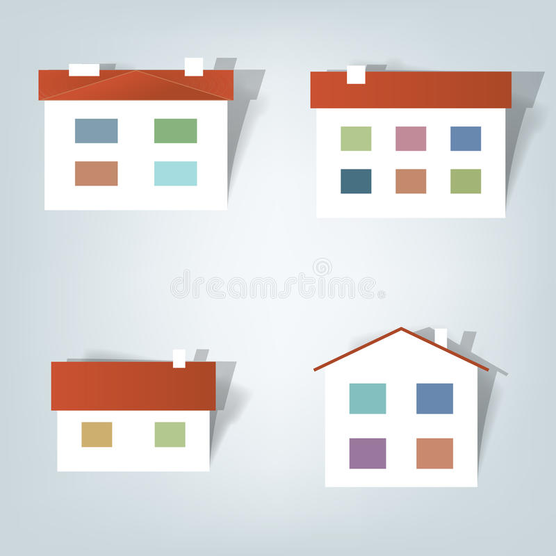 Set of stickers stock illustration