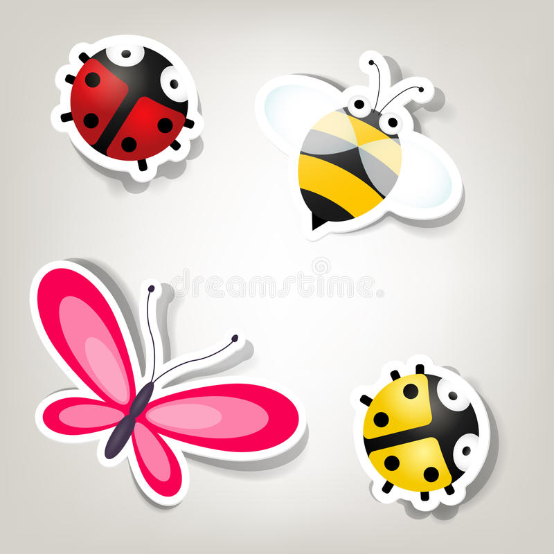 Set of stickers vector illustration