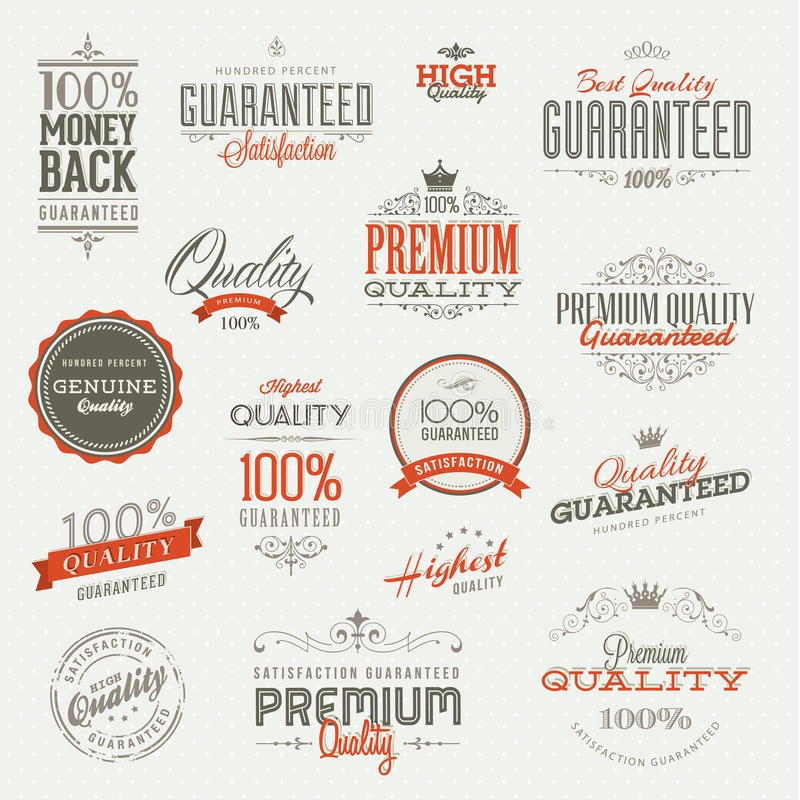 Set of stickers and elements vector illustration