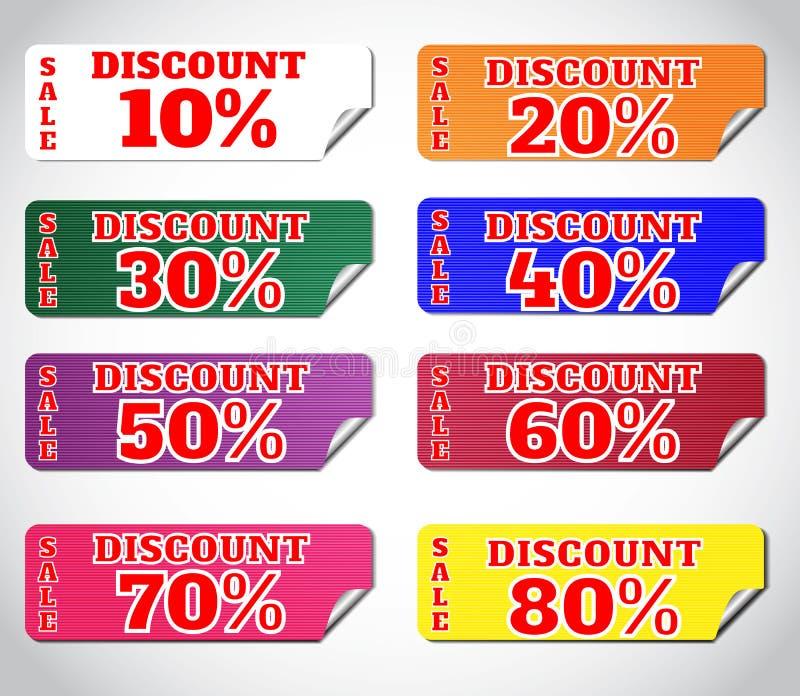 Download Set stickers stock illustration. Image of banner, design - 34276690