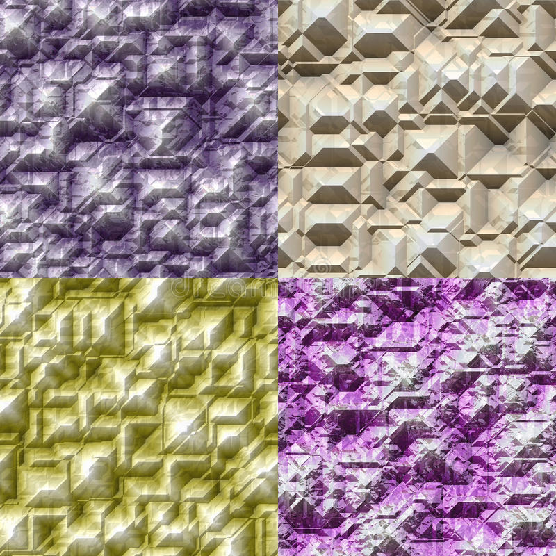 Set of stone blocks seamless generated textures royalty free illustration