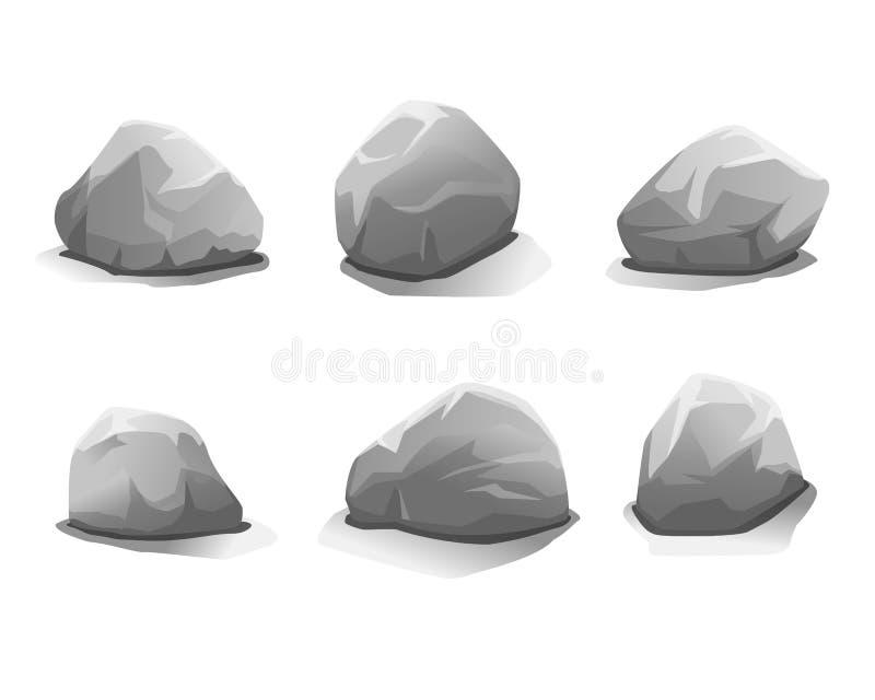 Set of stones stock illustration
