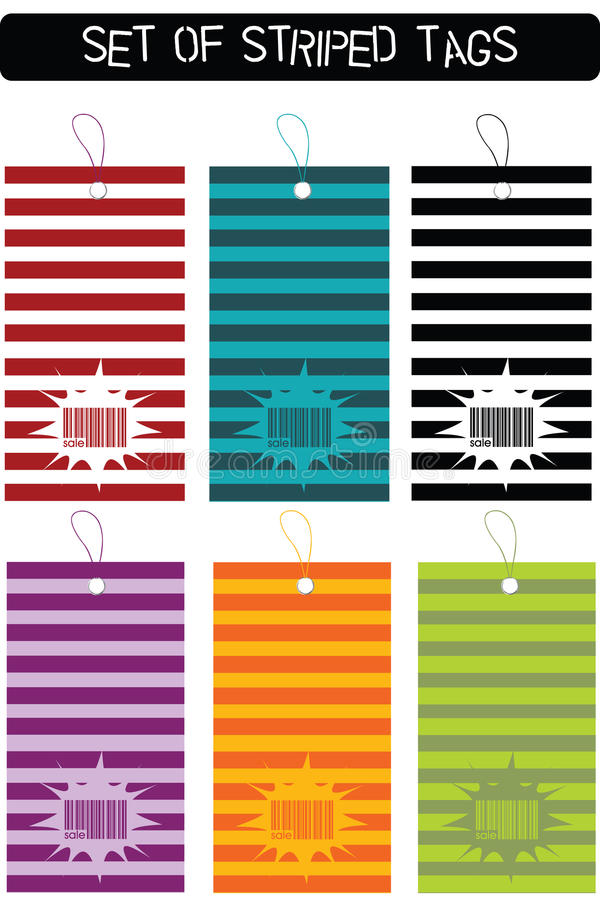 Download Set Of Striped Tags Royalty Free Stock Photo - Image: 14553955