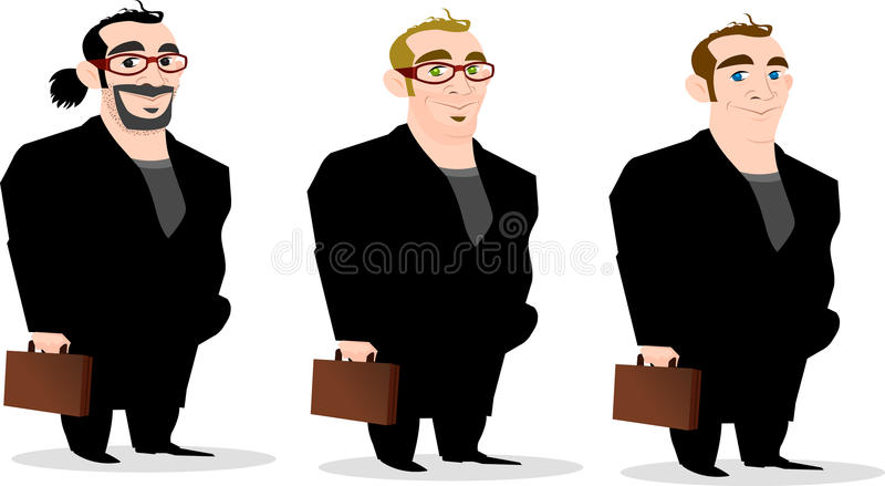 Download Set of Stylish Businessmen stock vector. Image of suits - 14350763