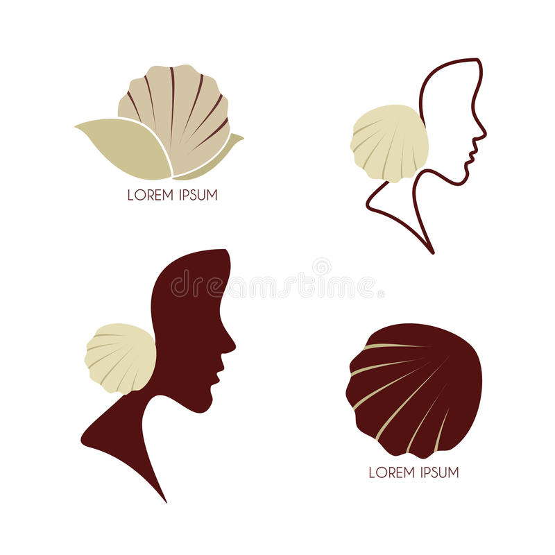 Download Set - Stylized profile stock photo. Image of health, hairstyle - 32438566