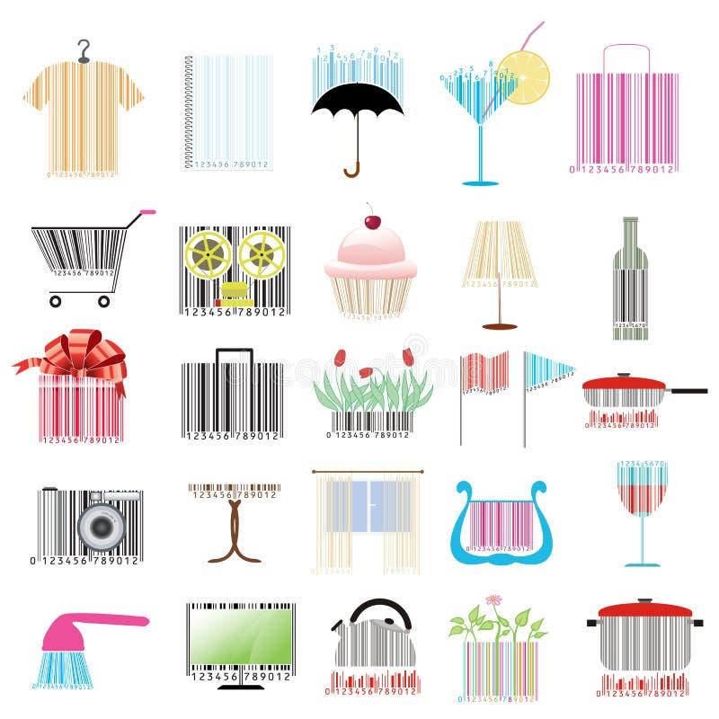 Download Set stylizowani kody ilustracja wektor. Ilustracja złożonej z pojęcie - 28969260