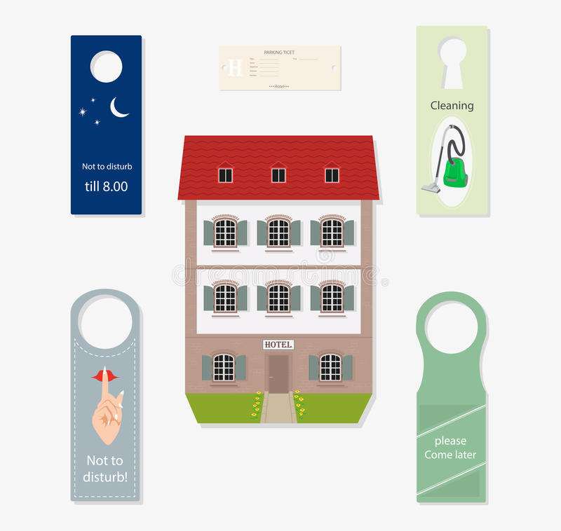Set of subjects for hotel. royalty free illustration
