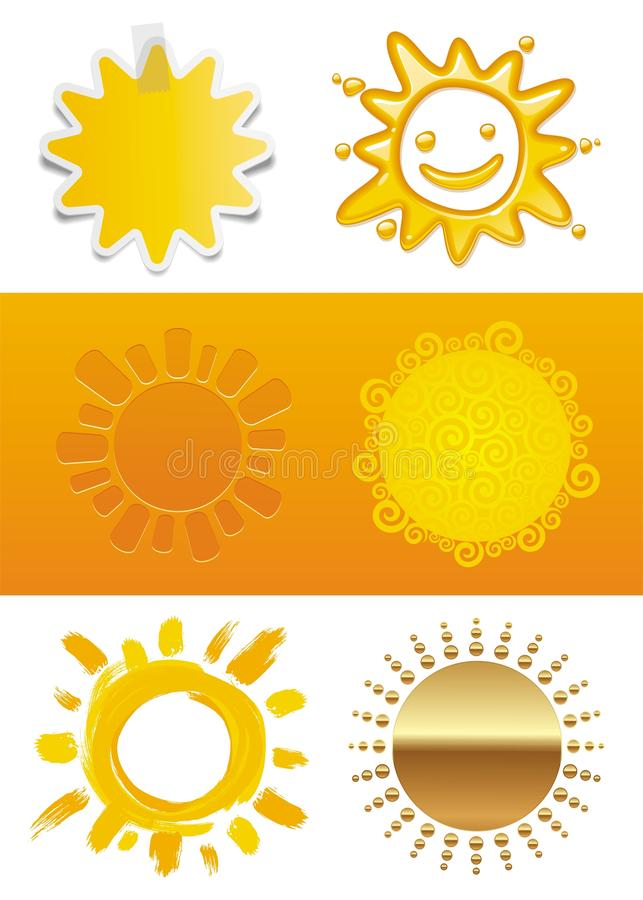 Set Of Sun Stock Images