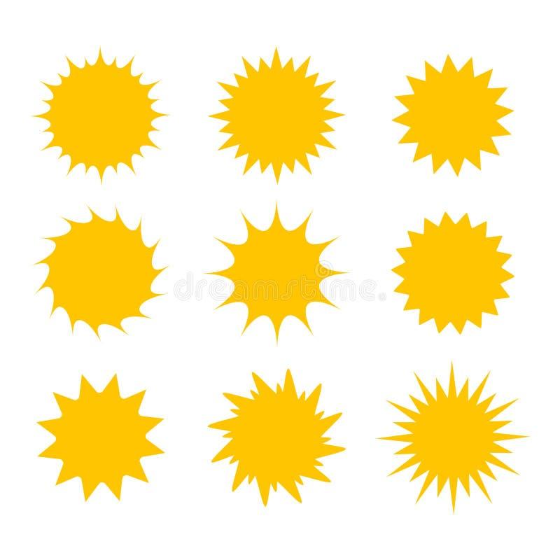 Set of sun icons vector illustration