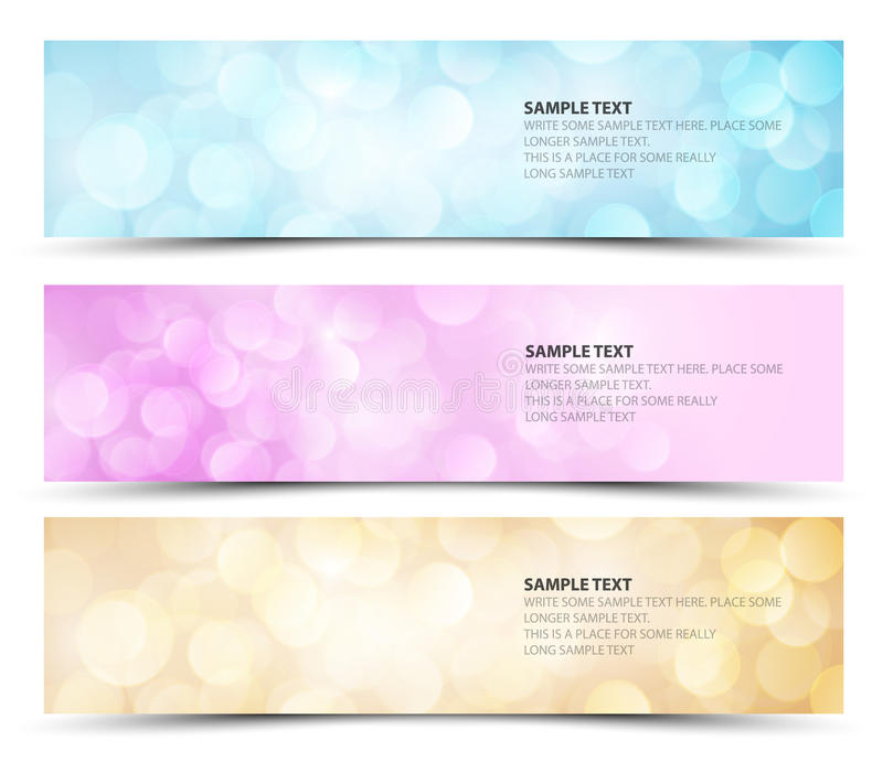 Download Set Of Sunny Horizontal Banners Stock Illustration - Image: 23329430