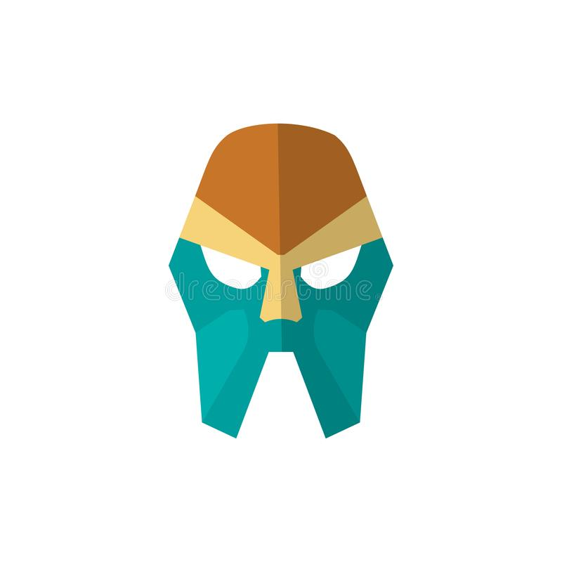 Set of super hero masks in flat style. Big collection cartoon superhero. Vector royalty free illustration