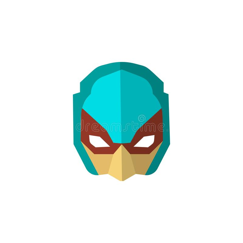 Set of super hero masks in flat style. Big collection cartoon superhero. Vector stock illustration