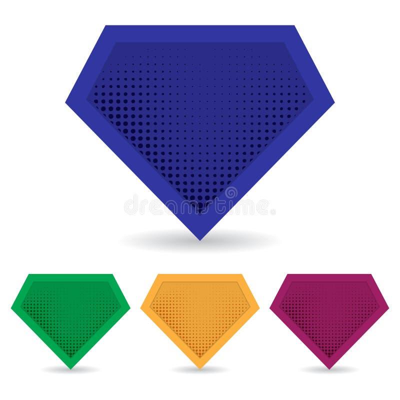 Set of superhero logo template. Vector, isolated, eps10. stock illustration
