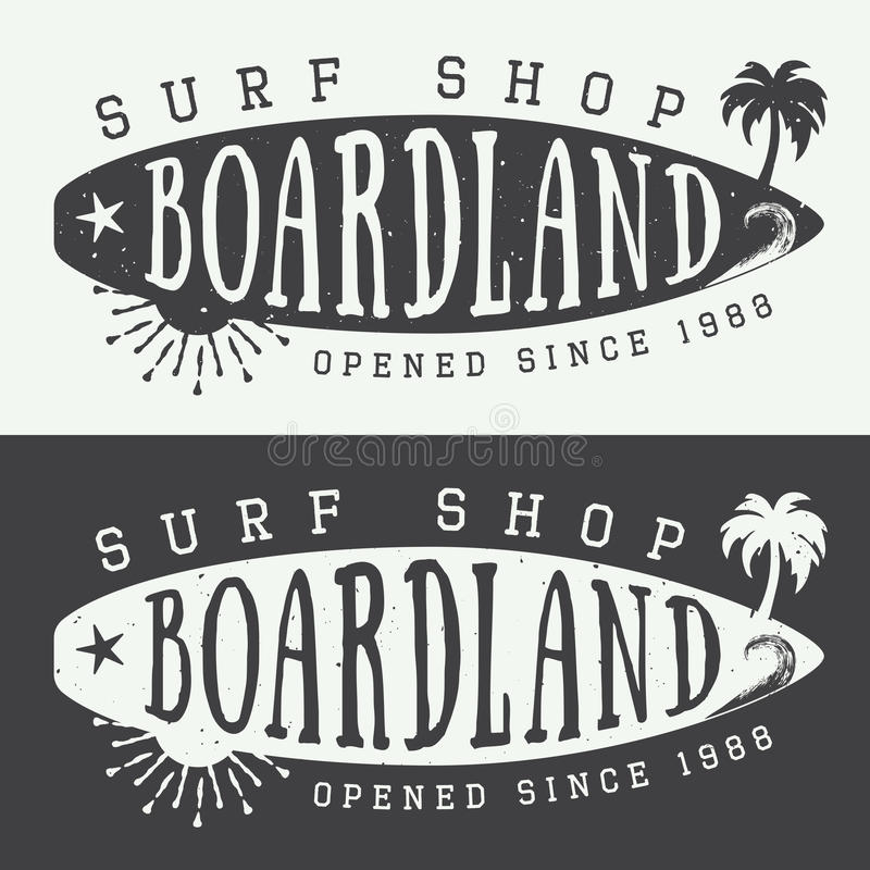 Download Set Of Surfing Logos Labels Badges And Elements In Vintage Style Vector
