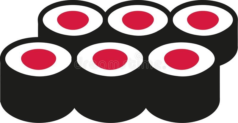 Set of Sushi rolls royalty free illustration