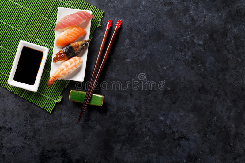 Set of sushi royalty free stock photos